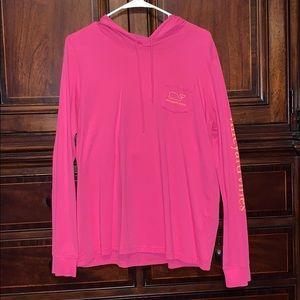 Woman's pink long sleeve vineyard vines shirt
